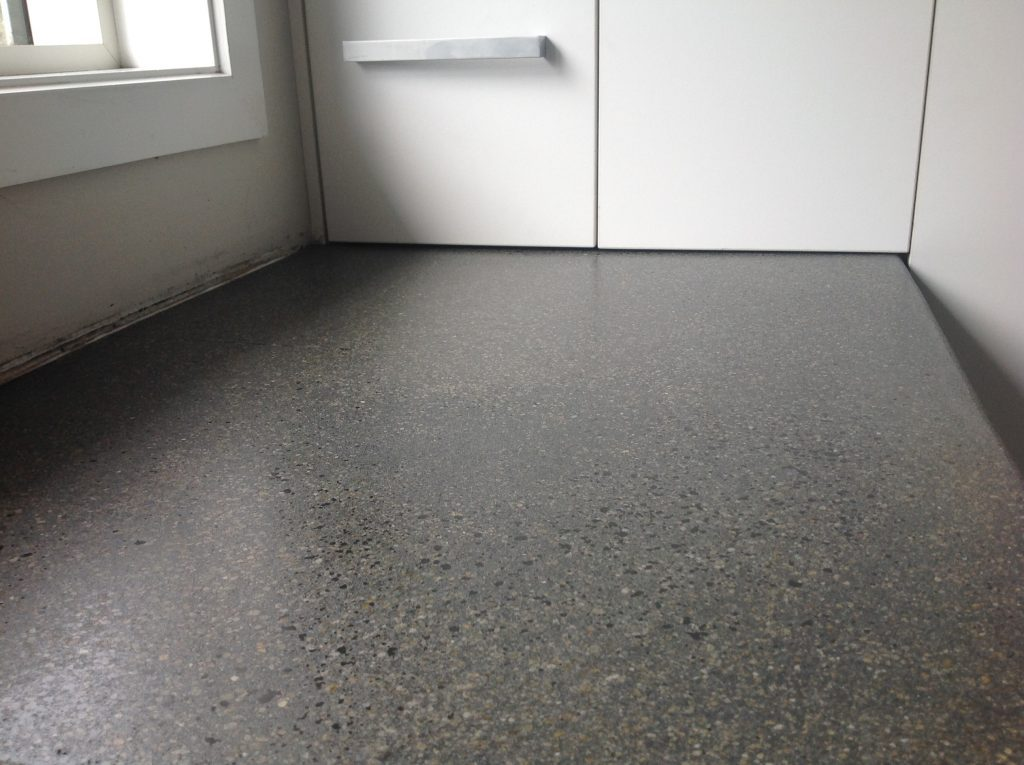 Residential Grind N Seal concrete benchtop